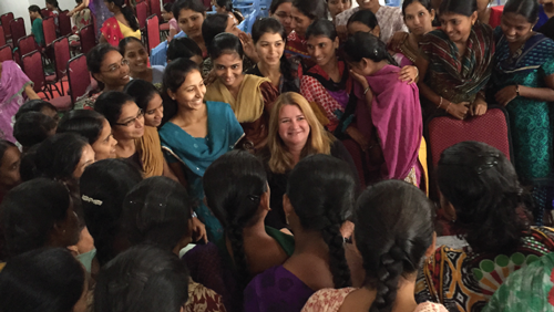 KITS Sponsorship. Female engineering students get support in Hyderabad, India.