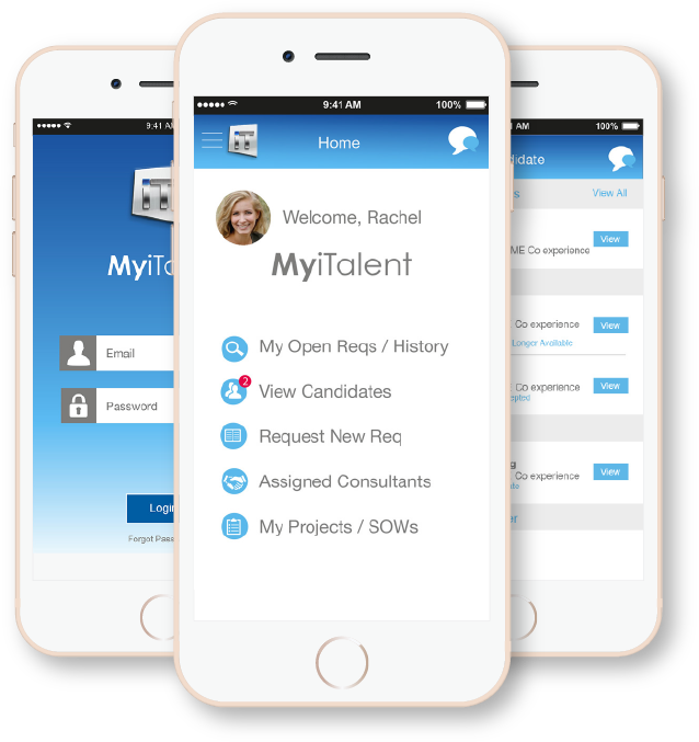 MyiTalent Enterprise Mobile App screenshots